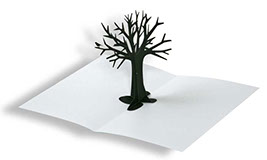 carte pop-up arbre