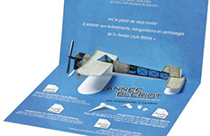 carte pop-up avion