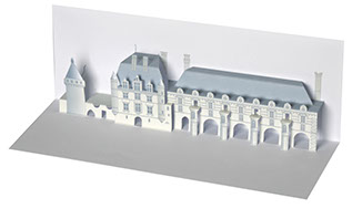 carte pop-up bâtiment Chenonceau