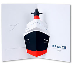 carte pop-up bateau