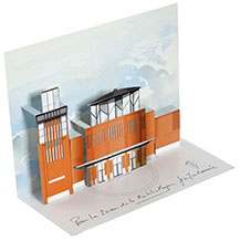 carte pop-up bâtiment